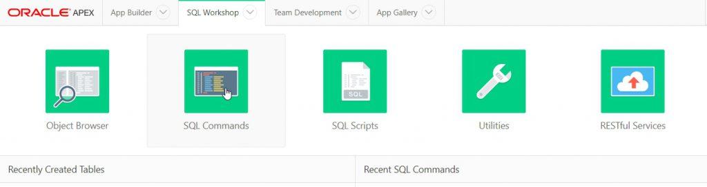 Abbildung 9: SQL Commands